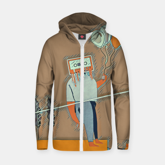 Thumbnail image of Cassette man Zip up hoodie, Live Heroes