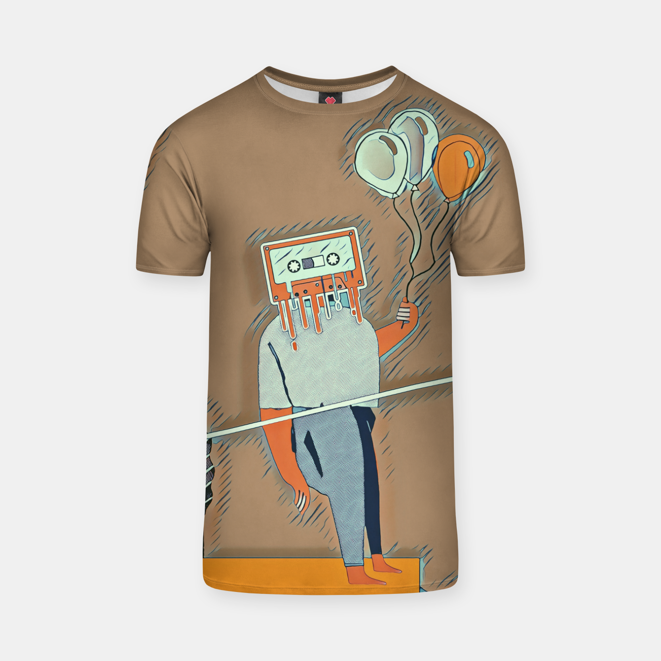 Image of Cassette man T-shirt - Live Heroes