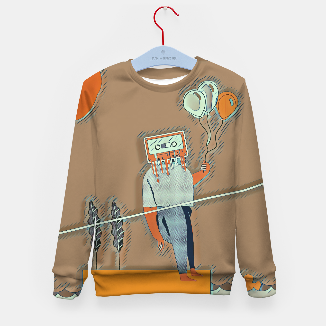 Image of Cassette man Kid's sweater - Live Heroes