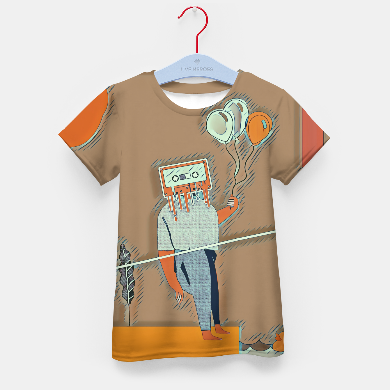 Image of Cassette man Kid's t-shirt - Live Heroes