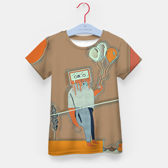 Thumbnail image of Cassette man Kid's t-shirt, Live Heroes
