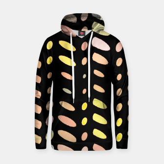 Thumbnail image of pastel abstract geometric pattern black background Hoodie, Live Heroes