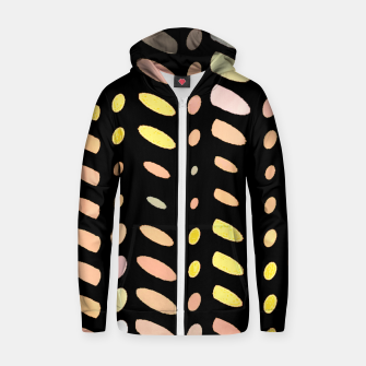 Thumbnail image of pastel abstract geometric pattern black background Zip up hoodie, Live Heroes