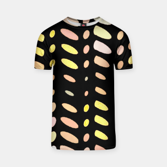Thumbnail image of pastel abstract geometric pattern black background T-shirt, Live Heroes