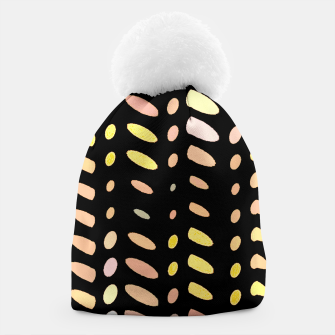 Thumbnail image of pastel abstract geometric pattern black background Beanie, Live Heroes