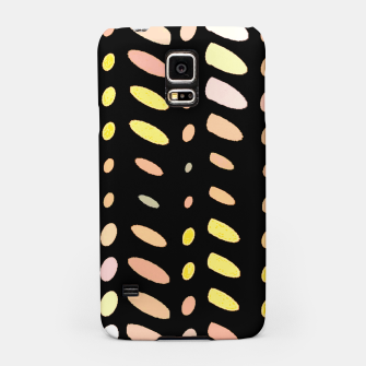 Thumbnail image of pastel abstract geometric pattern black background Samsung Case, Live Heroes