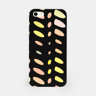Thumbnail image of pastel abstract geometric pattern black background iPhone Case, Live Heroes