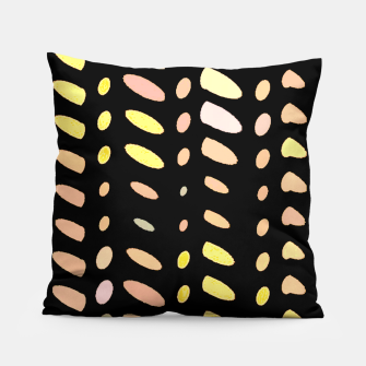 Thumbnail image of pastel abstract geometric pattern black background Pillow, Live Heroes