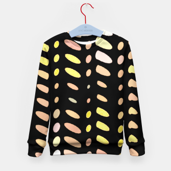 Thumbnail image of pastel abstract geometric pattern black background Kid's sweater, Live Heroes