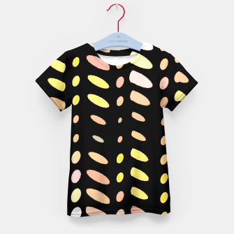 Thumbnail image of pastel abstract geometric pattern black background Kid's t-shirt, Live Heroes