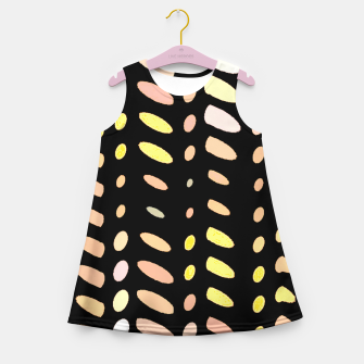 Thumbnail image of pastel abstract geometric pattern black background Girl's summer dress, Live Heroes