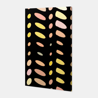 Thumbnail image of pastel abstract geometric pattern black background Canvas, Live Heroes