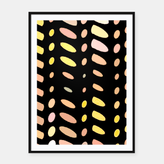 Thumbnail image of pastel abstract geometric pattern black background Framed poster, Live Heroes