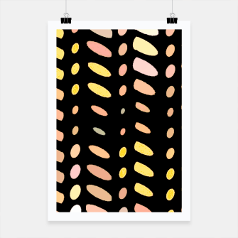 Thumbnail image of pastel abstract geometric pattern black background Poster, Live Heroes