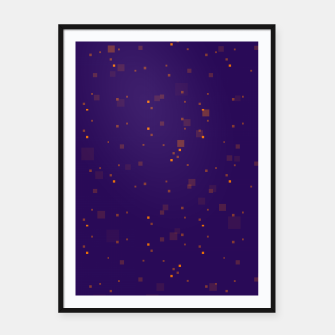 Thumbnail image of simple geometric pixel pattern 2 po Framed poster, Live Heroes