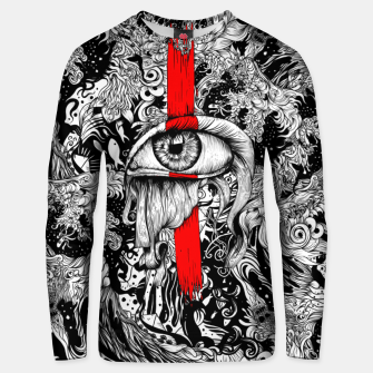 Thumbnail image of Red inked Eye Unisex sweater, Live Heroes