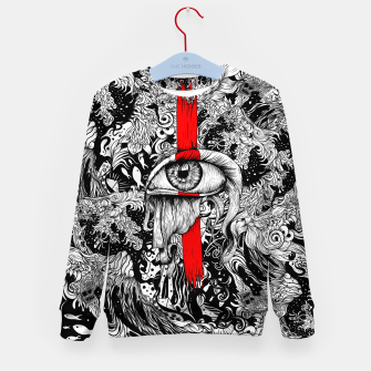 Thumbnail image of Red inked Eye Kid's sweater, Live Heroes