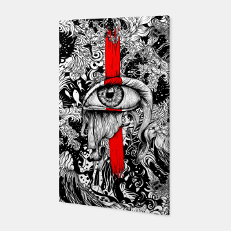Thumbnail image of Red inked Eye Canvas, Live Heroes