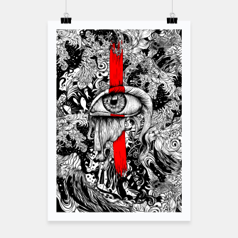 Thumbnail image of Red inked Eye Poster, Live Heroes
