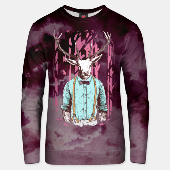 Thumbnail image of Brave Deer and Gentleman Unisex sweater, Live Heroes