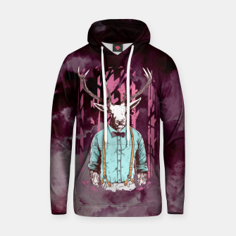 Thumbnail image of Brave Deer and Gentleman Hoodie, Live Heroes