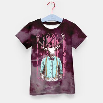 Thumbnail image of Brave Deer and Gentleman – Kid's t-shirt, Live Heroes