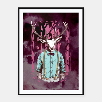 Thumbnail image of Brave Deer and Gentleman – Framed poster, Live Heroes