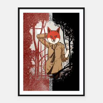 Thumbnail image of Smart Fox – Framed poster, Live Heroes
