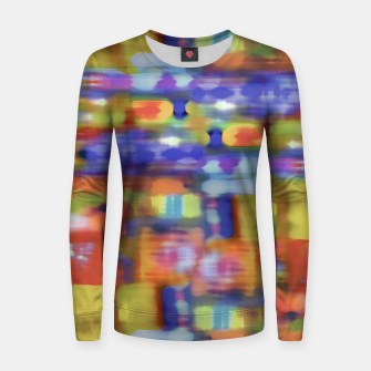 Miniature de image de Colorful Blurred Abstract Texture Print Women sweater, Live Heroes