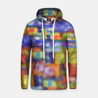 Miniature de image de Colorful Blurred Abstract Texture Print Hoodie, Live Heroes