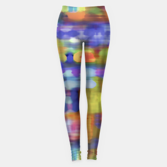 Thumbnail image of Colorful Blurred Abstract Texture Print Leggings, Live Heroes