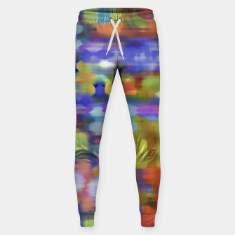 Thumbnail image of Colorful Blurred Abstract Texture Print Sweatpants, Live Heroes