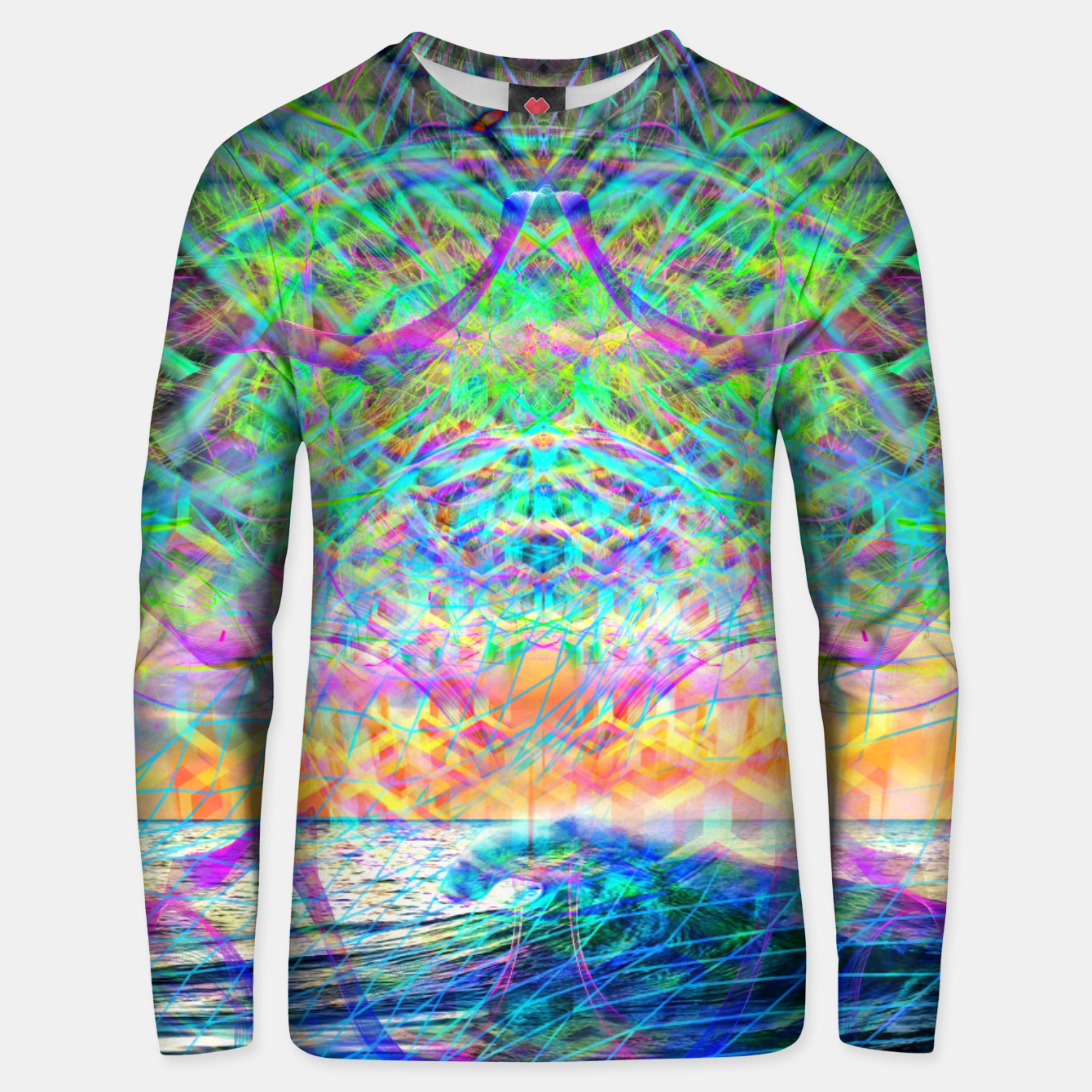 Image of Wave Grid Consciousness Unisex sweater - Live Heroes