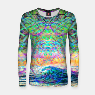 Thumbnail image of Wave Grid Consciousness Women sweater, Live Heroes