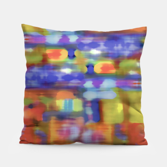 Thumbnail image of Colorful Blurred Abstract Texture Print Pillow, Live Heroes