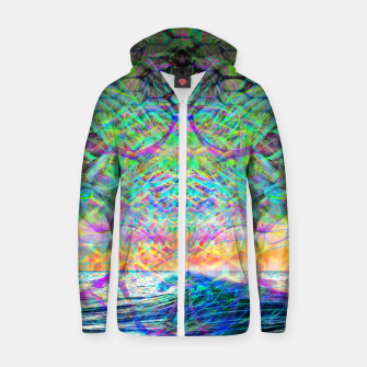 Thumbnail image of Wave Grid Consciousness Zip up hoodie, Live Heroes
