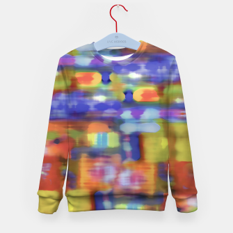 Thumbnail image of Colorful Blurred Abstract Texture Print Kid's sweater, Live Heroes