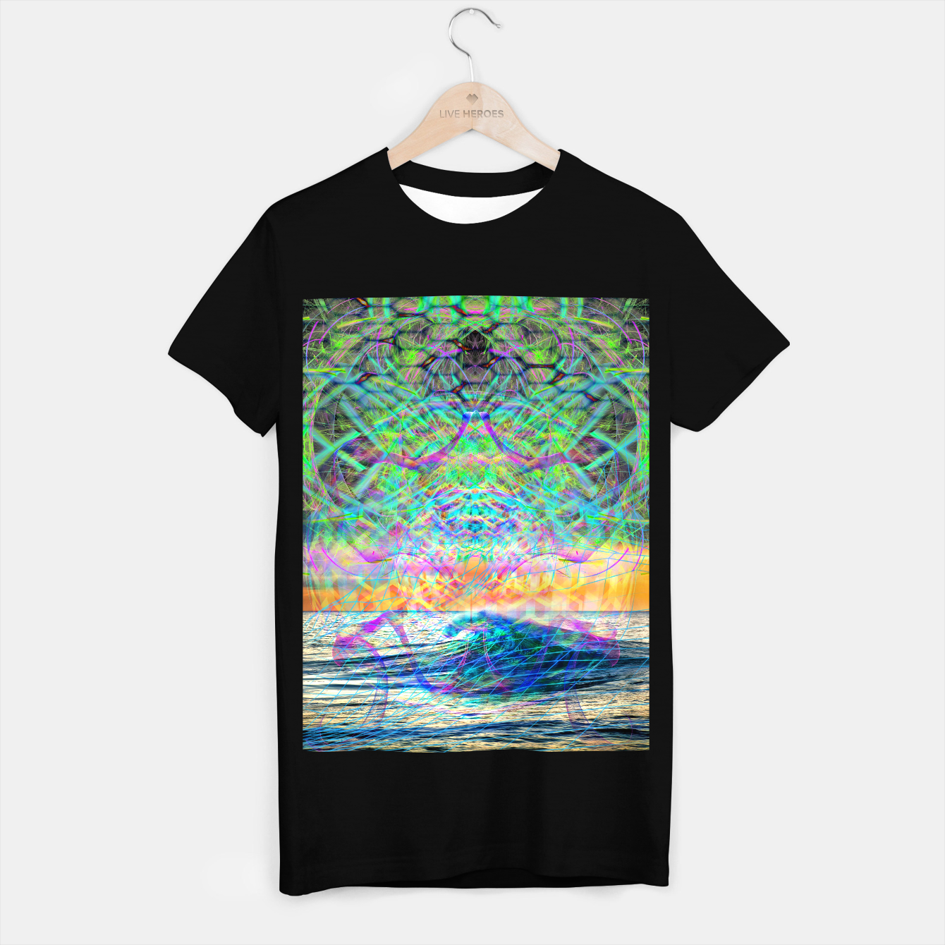 Image of Wave Grid Consciousness T-shirt regular - Live Heroes