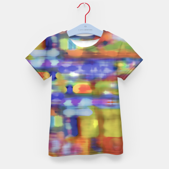 Thumbnail image of Colorful Blurred Abstract Texture Print Kid's t-shirt, Live Heroes