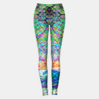 Thumbnail image of Wave Grid Consciousness Leggings, Live Heroes