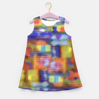 Thumbnail image of Colorful Blurred Abstract Texture Print Girl's summer dress, Live Heroes