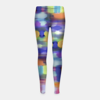 Thumbnail image of Colorful Blurred Abstract Texture Print Girl's leggings, Live Heroes