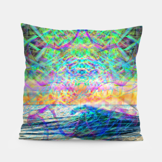 Thumbnail image of Wave Grid Consciousness Pillow, Live Heroes