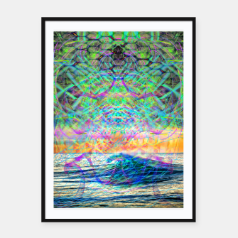 Thumbnail image of Wave Grid Consciousness Framed poster, Live Heroes