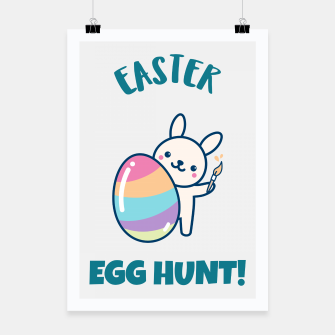 Cute easter bunny Poster obraz miniatury