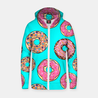 Thumbnail image of Donut - Sweets - candy like Reißverschluss kapuzenpullover, Live Heroes