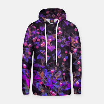 Miniatur Stylized Floral Texture Pattern Hoodie, Live Heroes