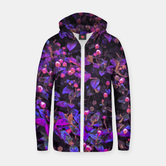 Miniatur Stylized Floral Texture Pattern Zip up hoodie, Live Heroes