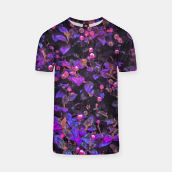 Miniatur Stylized Floral Texture Pattern T-shirt, Live Heroes
