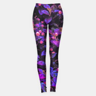Miniatur Stylized Floral Texture Pattern Leggings, Live Heroes